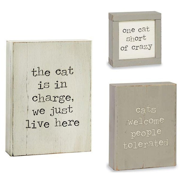 Wood Cat Plaques