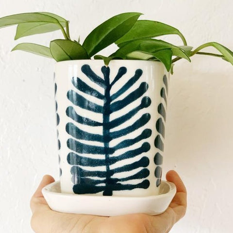 Pinecone Porcelain Mini Planter