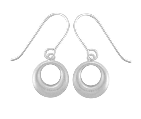 Little Puffy Circle Earring in Silver