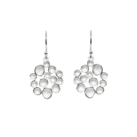 Small Champagne Pod Silver Hook Earrings