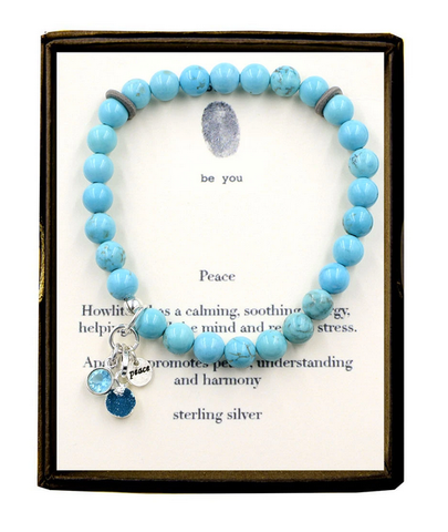 Semi-Precious Stone Bracelets with Charms