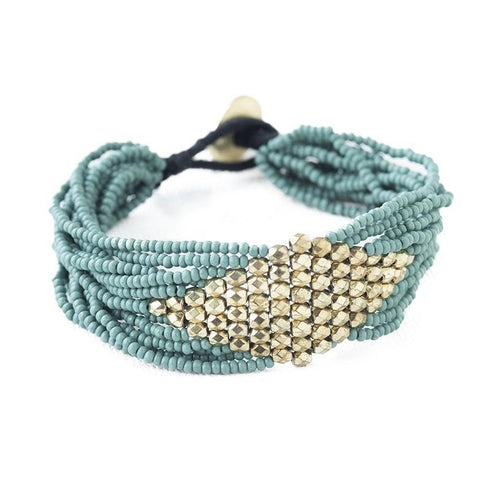 Gold Diamond Seed Bracelet - Assorted Colors