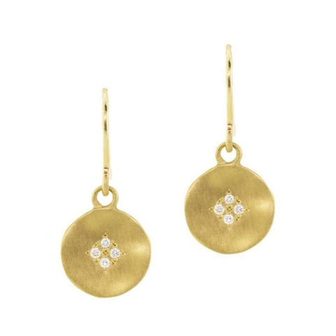 Four Star Wave Earrings 18k Gold