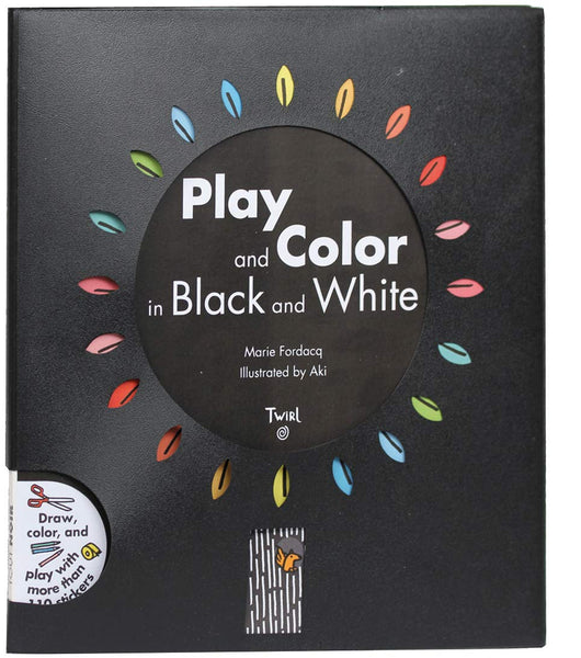 Play and Color in Black and White Activity Book
