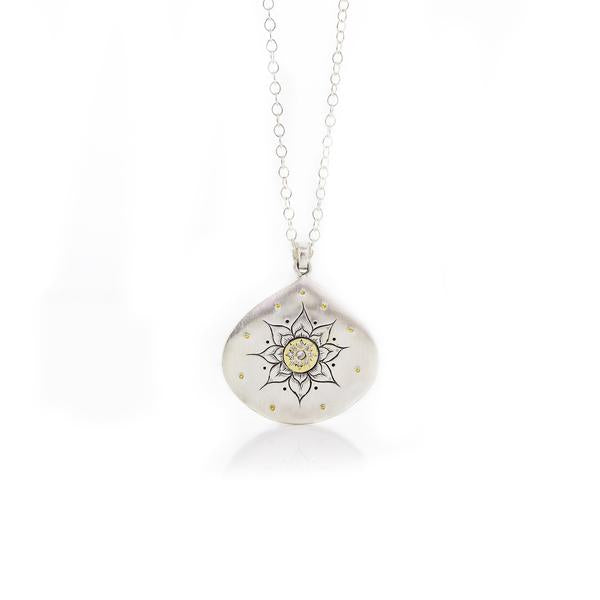 Soleil Pendant with Diamonds