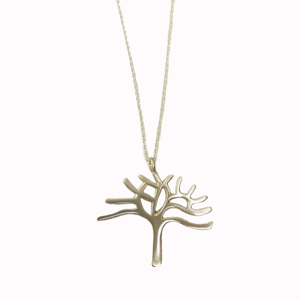 Oakland Tree Necklace - Silver