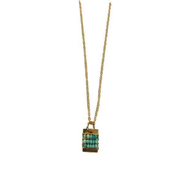 Turquoise Tab Necklace