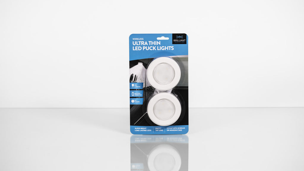 ULTRA-THIN LED PUCK LIGHT – 2 PACK*