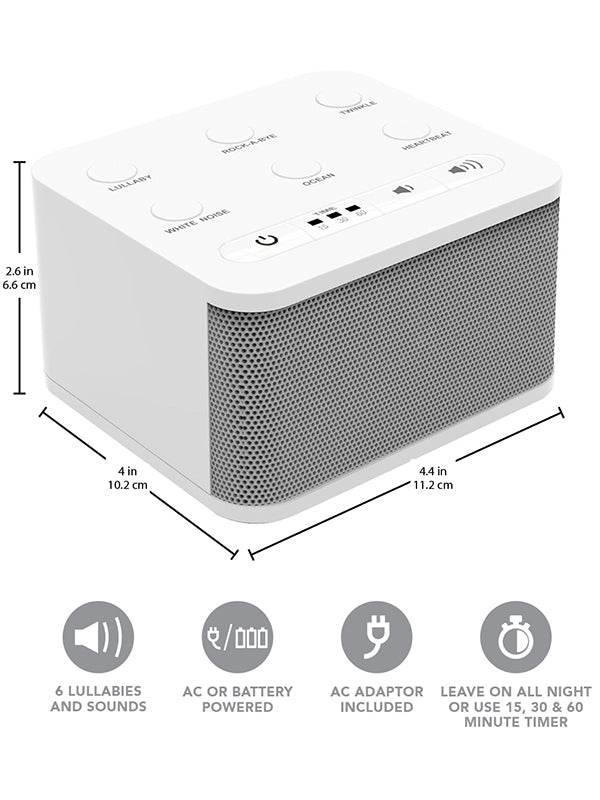 Big Red Rooster Baby White Noise Machine | 6 Sleep Sounds | Sound Machine For Kids, Toddler Or Infant | Plug In Or Battery Powered | Portable Soother With Lullaby Is Perfect For Travel