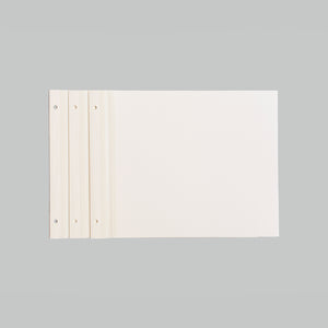 10 SOFT WHITE REFILL SHEETS  - NEWPORT MEDIUM 8.5X11