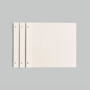 10 SOFT WHITE REFILL SHEETS - NEWBURY MEDIUM 8.5X10