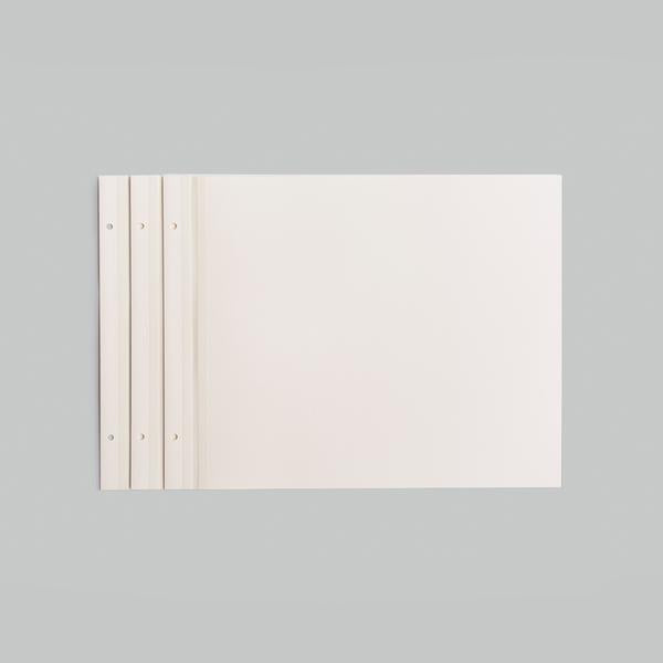 10 SOFT WHITE REFILL SHEETS - NEWPORT LARGE 11X14