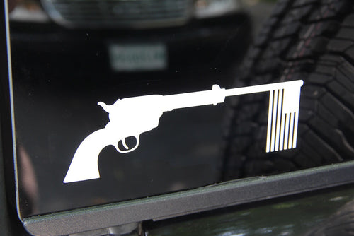 Peacemaker White Vinyl Decal - RED BLOODED AMERICAN