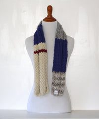 chunky wool knit scarf