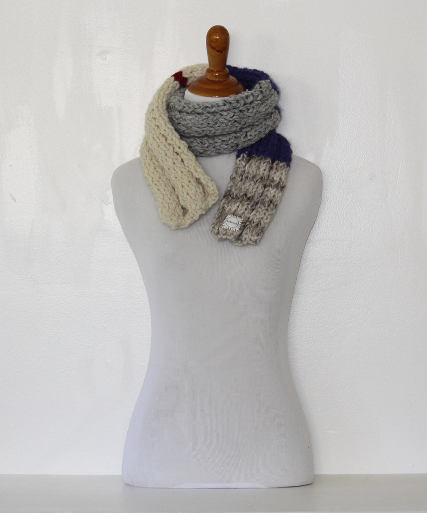 Warm winter scarf blue