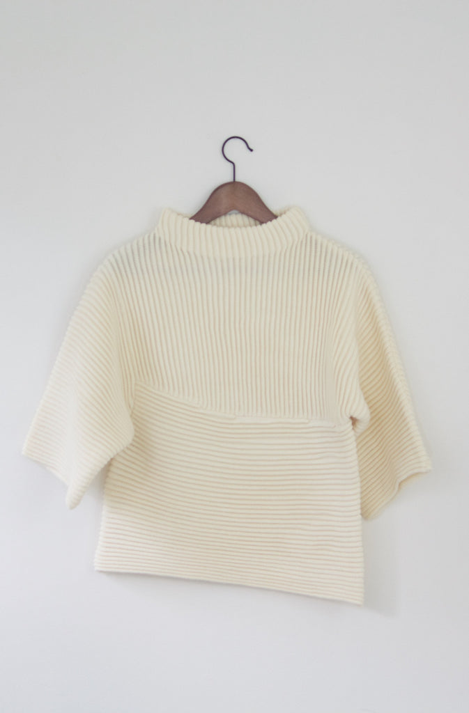 Textured Bell Sleeve Knit Sweater