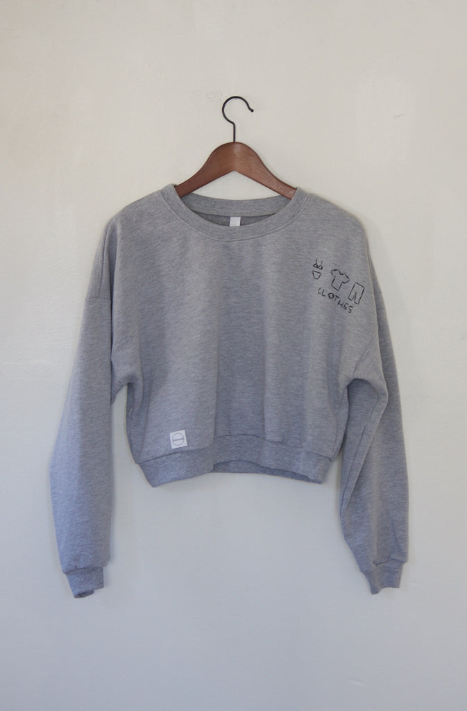 California Fleece Grey Clothes Sweatshirt