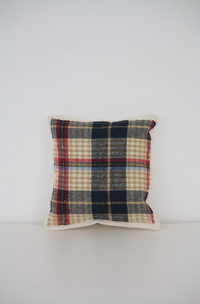 Plaid Square Miniature Pillow