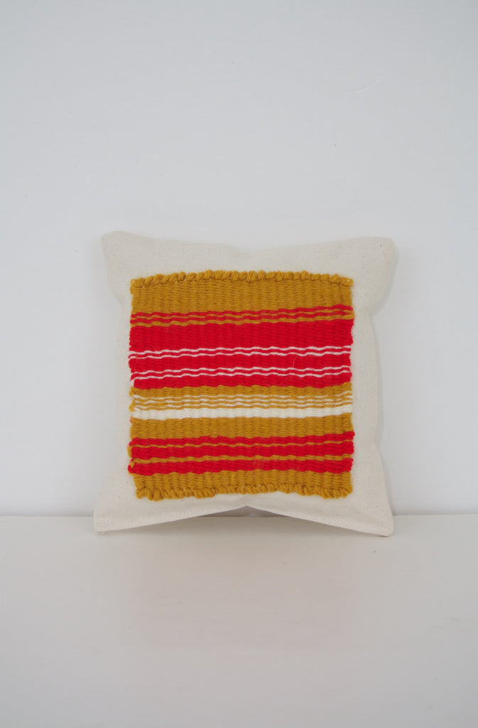 Red + Gold Miniature Decor Pillow