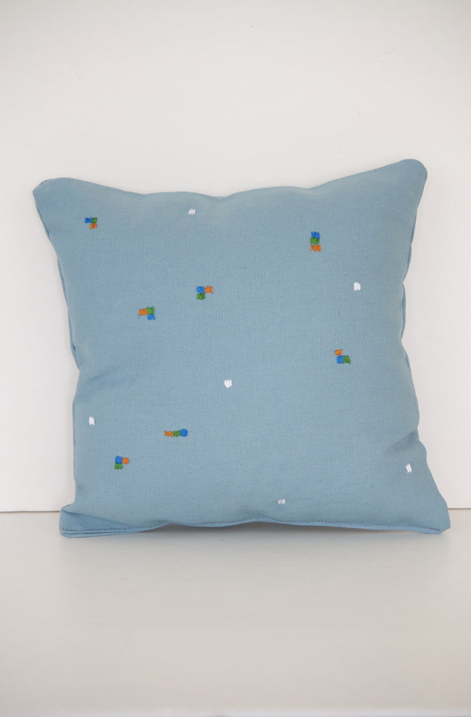 Blue Square Spec Miniature Decor Pillow