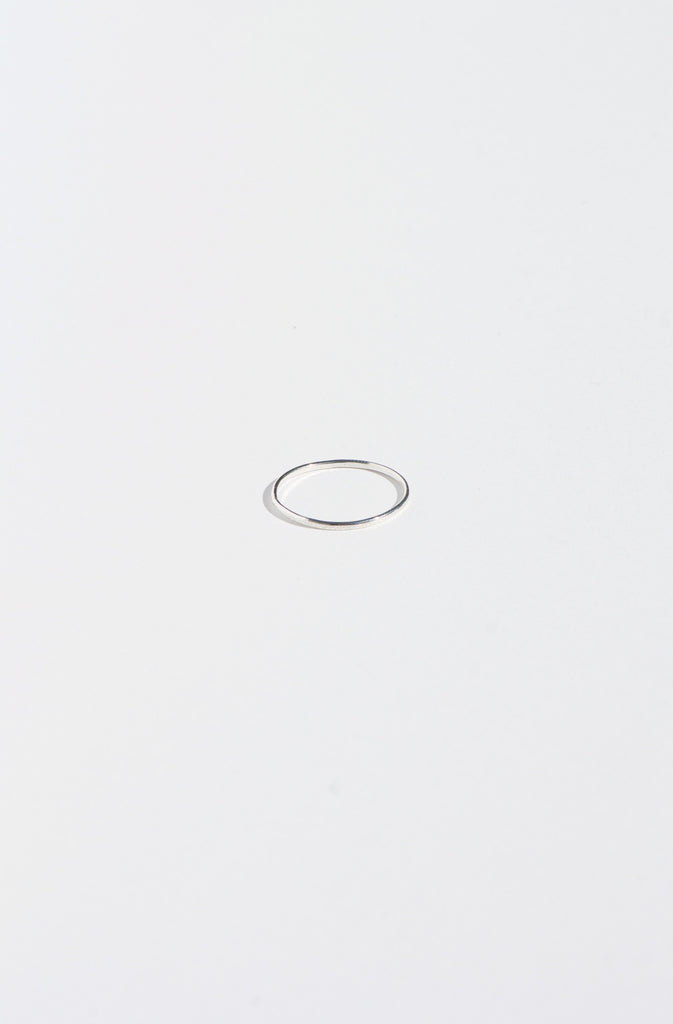 Glitter Stacking Ring - Silver