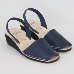 French Blue Menorca Wedge Sandal