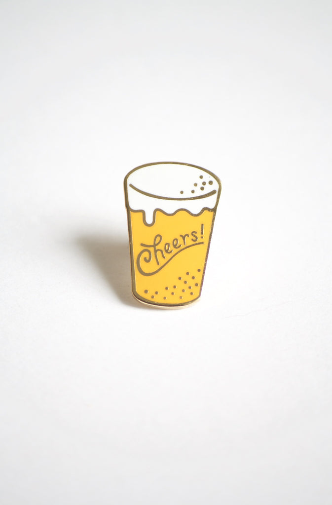 Life Lesson Enamel Pin - Cheers