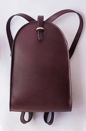 Vintage Style Brown Leather Backpack