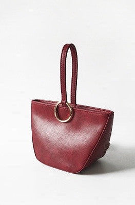 Dark Red Top Handle Handbag