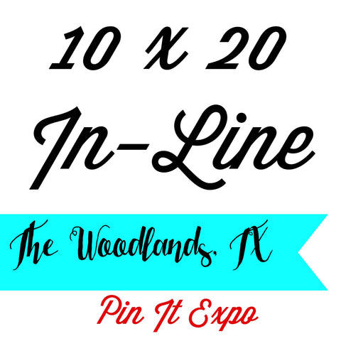 Split Pay Tiffany Fairbanks 10 x 20 In-Line Booth The Woodlands  Pin It Expo 2017
