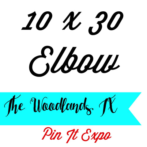 10 x 30 Elbow Booth Pin It Expo 2017 The Woodlands