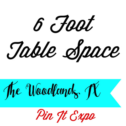 6 Foot Table Space Hand Made Only Pin It Expo 2017 The Woodlands