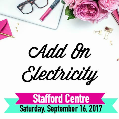 Electricity Add On Pin It Expo, September 16, 2017 Stafford Centre