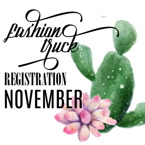 Fashion Truck Registration | Saturday November 18, 2017 | Track Trade Day at The Track Shack