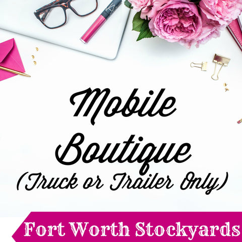 Mobile Boutique Booth Pin It Expo 2017 Fort Worth Stockyards