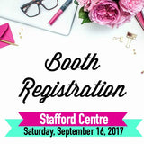 Booth Registration Pin It Expo Saturday, October 21, 2017 Stafford Centre