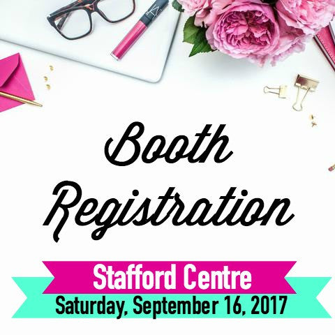 Booth Registration Pin It Expo Saturday, September 16, 2017 Stafford Centre