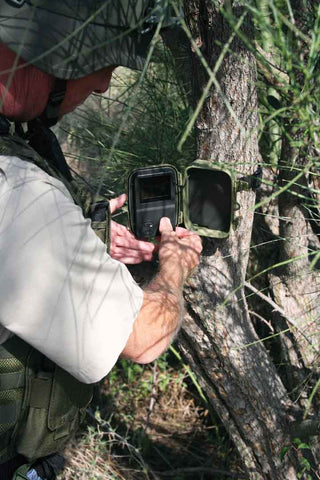 FIELD SURVEILLANCE CAMERA IN USE