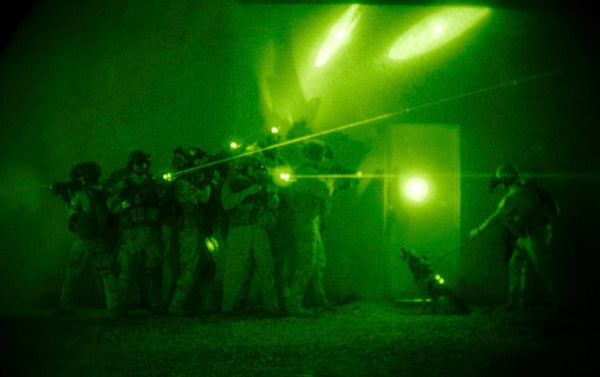 swat team using night vision
