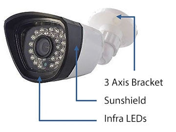 AHD DVR KIT 720p Weatherproof 36 LED IR Camera