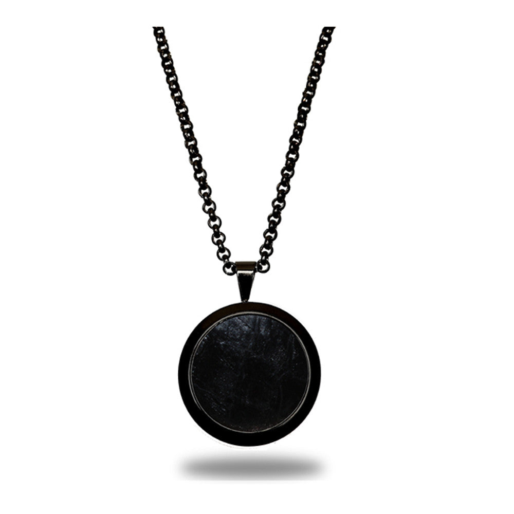 Atlantic Salmon Leather Pendant Black-Tone ▪ Black - Marlín Birna Ltd.