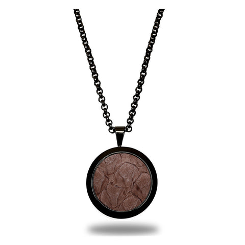Atlantic Salmon Leather Pendant Black-Tone ▪ Taupe - Marlín Birna Ltd.