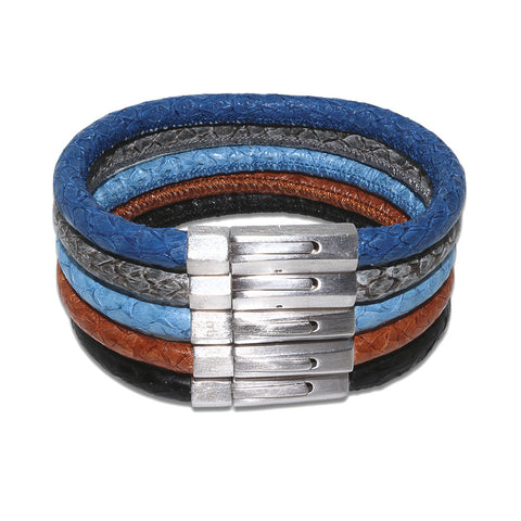 Atlantic Salmon Leather Cord Bracelet ▪ Sterling Silver ▪ Hallmarked