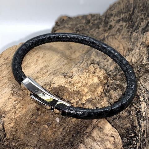 Atlantic Salmon Leather Cord Bracelet ▪ Black