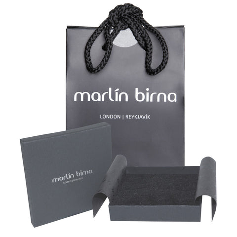 Genuine Leather Bracelet w/Zirconia ▪ White - Marlín Birna Ltd.