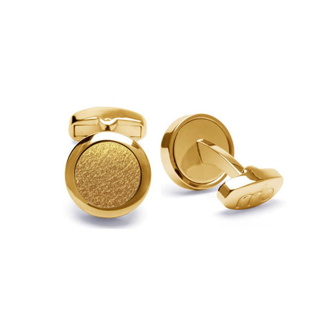 VEGAN Cufflinks ▪ Piñatex Pineapple Leaf Fibres ▪ Gold