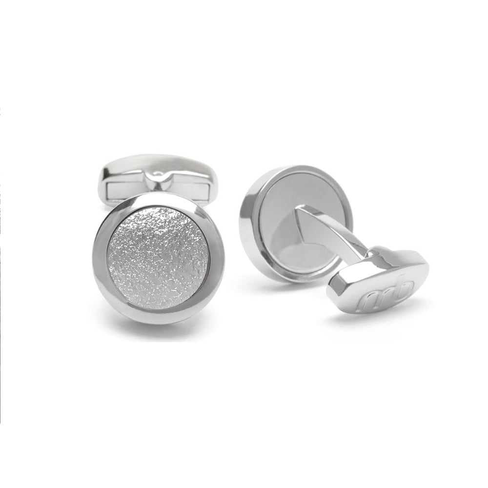 VEGAN Cufflinks ▪ Piñatex Pineapple Leaf Fibres ▪ Silver - Marlín Birna Ltd.