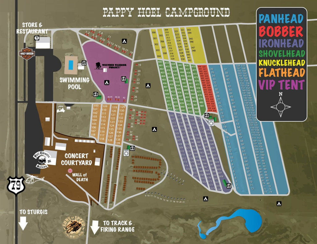 Pappy Hoel Campground Sturgis Map