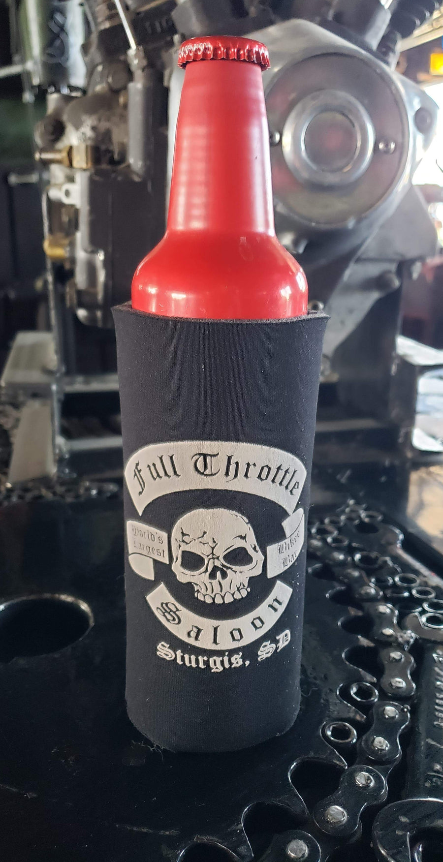 Full Throttle Saloon Tall Koozie / Huggie