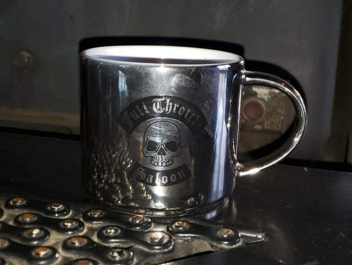 FTS Metallic Chrome Coffee Cup
